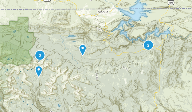 Manila, Utah Lake Map