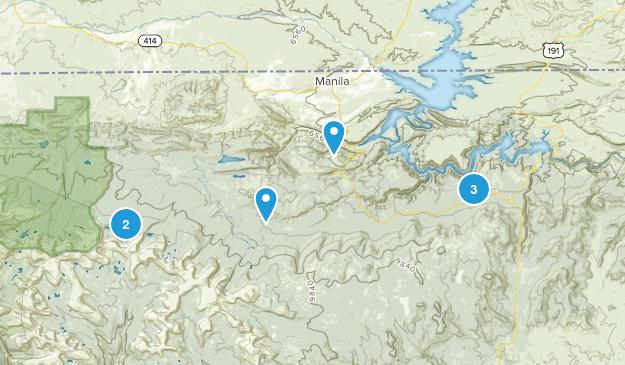 Manila, Utah Nature Trips Map