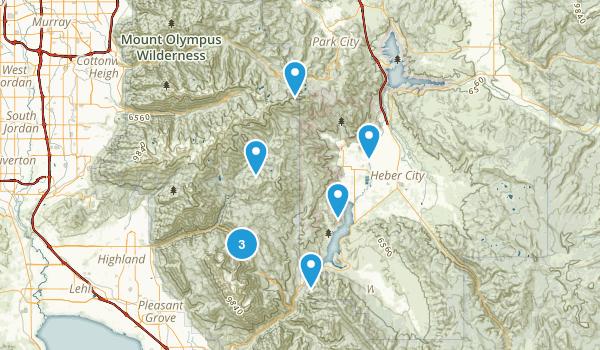 Midway, Utah Mountain Biking Map