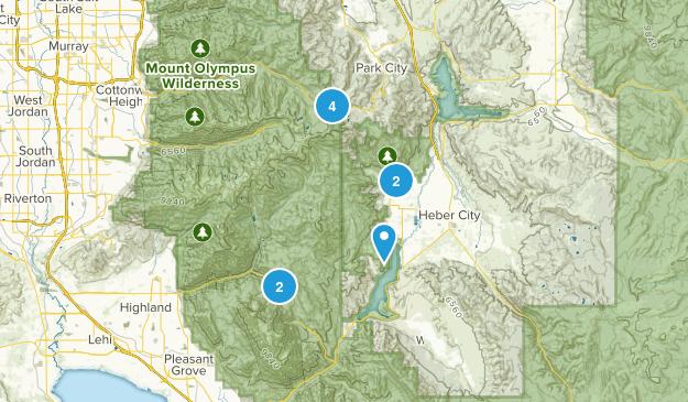 Midway, Utah Trail Running Map