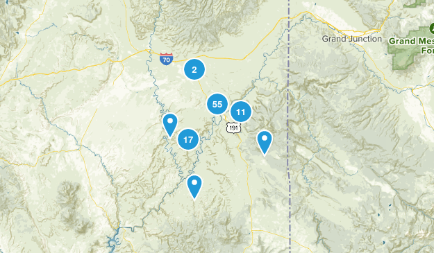 Moab, Utah Birding Map