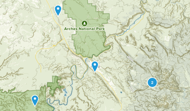 Moab, Utah Forest Map