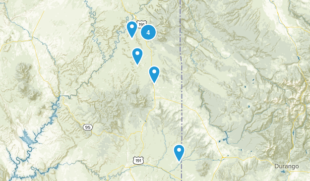 Monticello, Utah Nature Trips Map