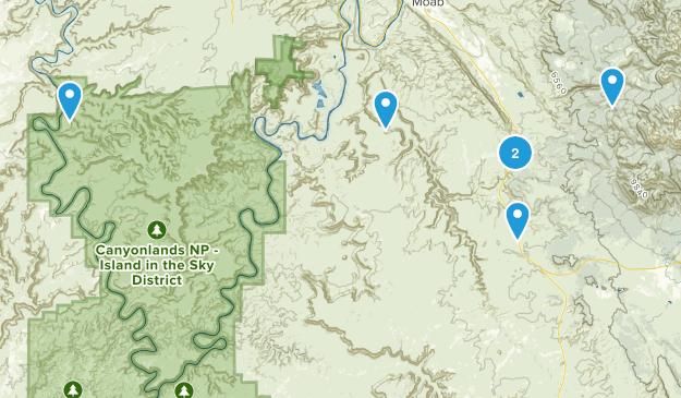 Monticello, Utah Off Road Driving Map