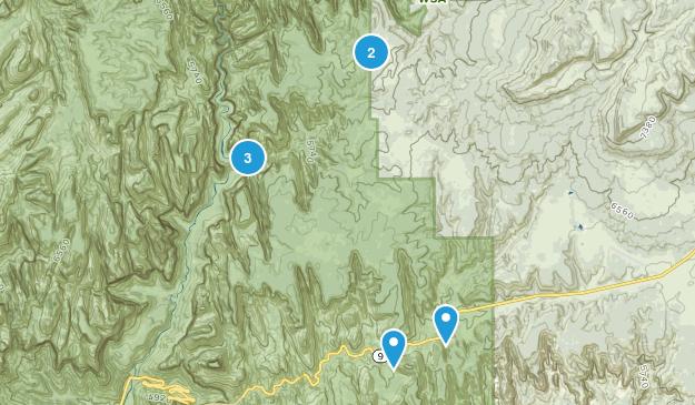 Mount Carmel, Utah Hiking Map