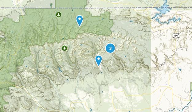 Neola, Utah Hiking Map