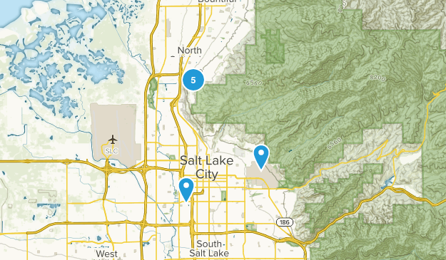 North Salt Lake, Utah Hiking Map