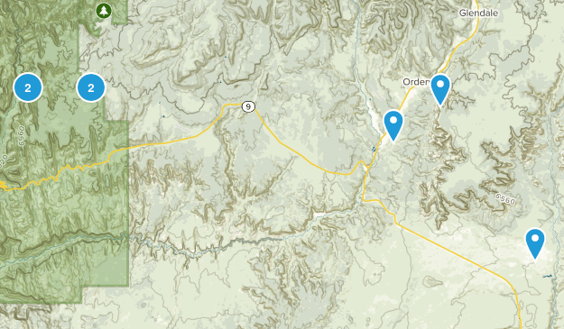 Orderville, Utah Hiking Map