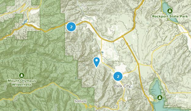 Park City, Utah Cross Country Skiing Map
