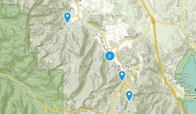 Park City, Utah Skiing Map