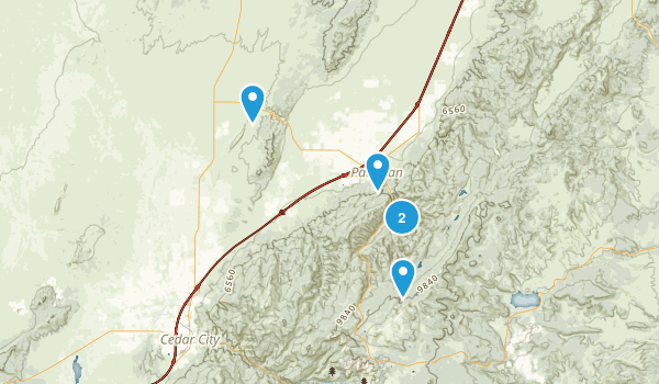 Parowan, Utah Nature Trips Map