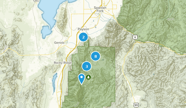 Payson, Utah Forest Map