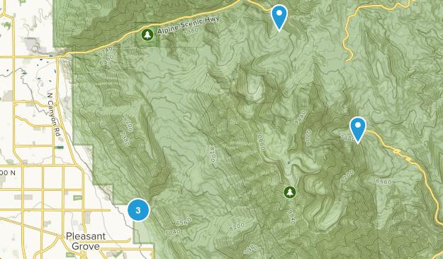 Pleasant Grove, Utah Camping Map
