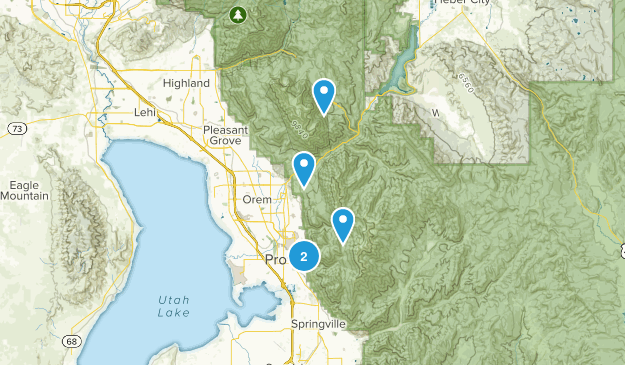 Provo, Utah Camping Map
