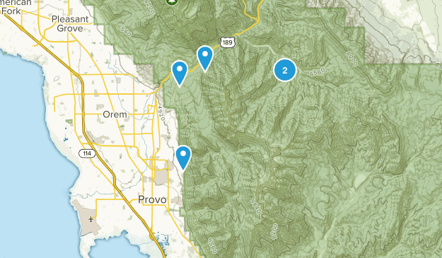 Provo, Utah Cross Country Skiing Map