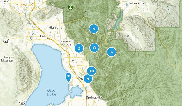 Provo, Utah Hiking Map