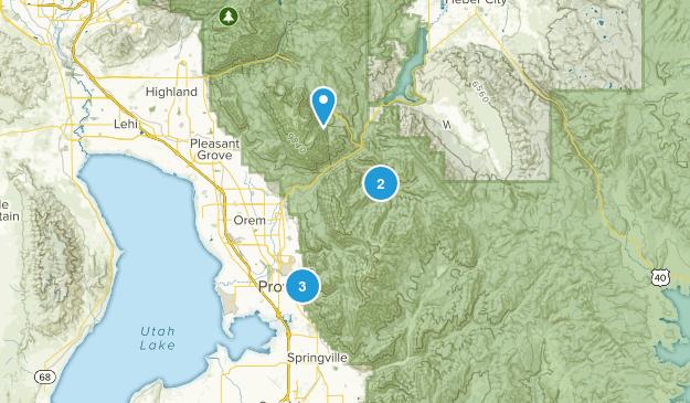 Provo, Utah Horseback Riding Map