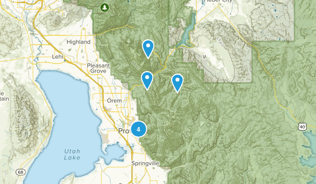 Provo, Utah Snowshoeing Map