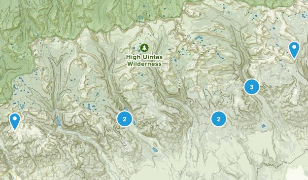Roosevelt, Utah Backpacking Map