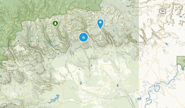 Roosevelt, Utah Hiking Map