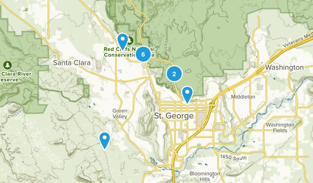 Saint George, Utah Dogs On Leash Map