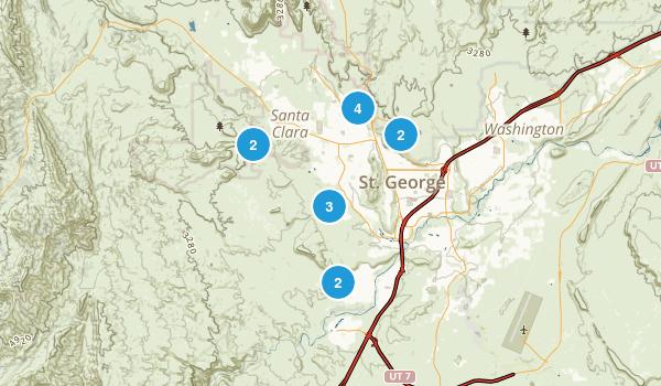 Saint George, Utah Mountain Biking Map