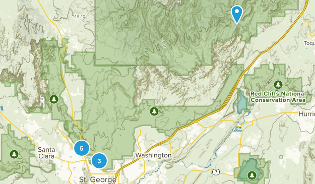 Saint George, Utah Wildlife Map