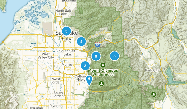 Salt Lake City, Utah Dog Friendly Map