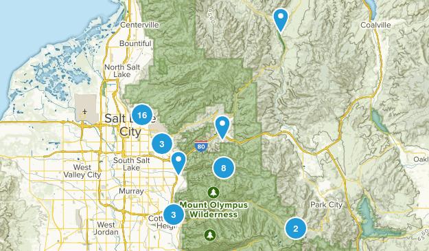 Salt Lake City, Utah Dogs On Leash Map