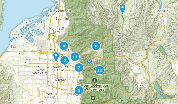 Map of Trails near Salt Lake City, Utah   AllTrails