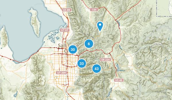 Salt Lake City, Utah Hiking Map
