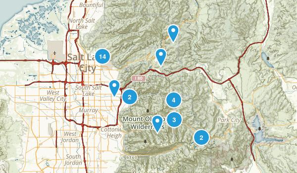 Salt Lake City, Utah Mountain Biking Map