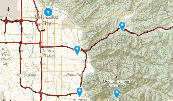 Best Road Biking Trails Near Salt Lake City Utah Photos - Salt lake city on us map