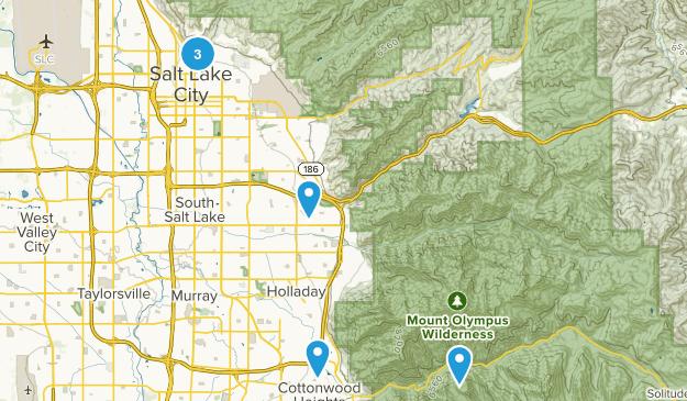 Salt Lake City, Utah Road Biking Map