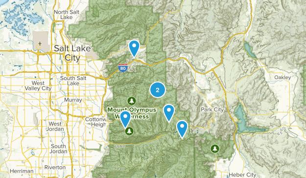 Salt Lake City, Utah Skiing Map