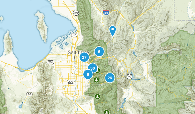 Salt Lake City, Utah Trail Running Map