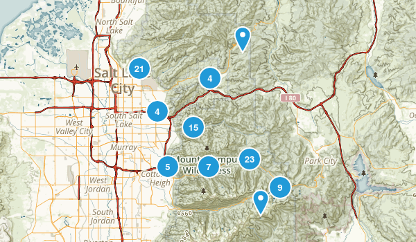 Best Views Trails Near Salt Lake City Utah AllTrailscom - Salt lake city map of us