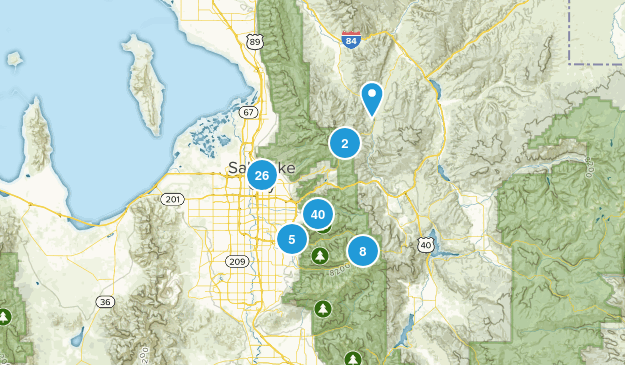 Salt Lake City, Utah Walking Map