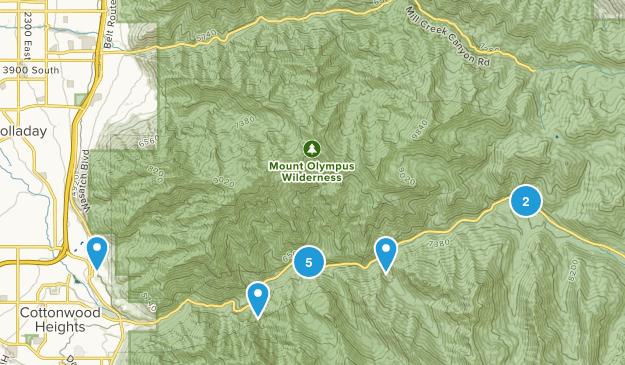 Salt Lake City, Utah Waterfall Map