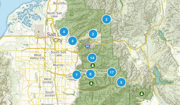 Salt Lake City, Utah Wildlife Map
