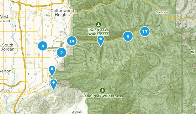 Sandy, Utah Bird Watching Map