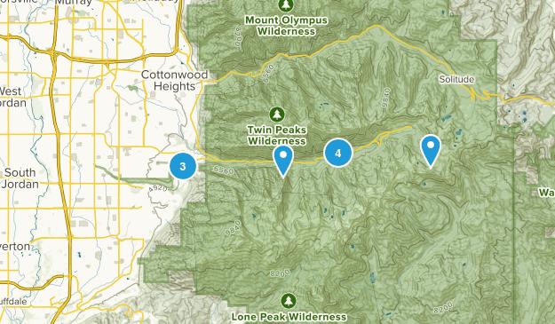 Sandy, Utah Camping Map