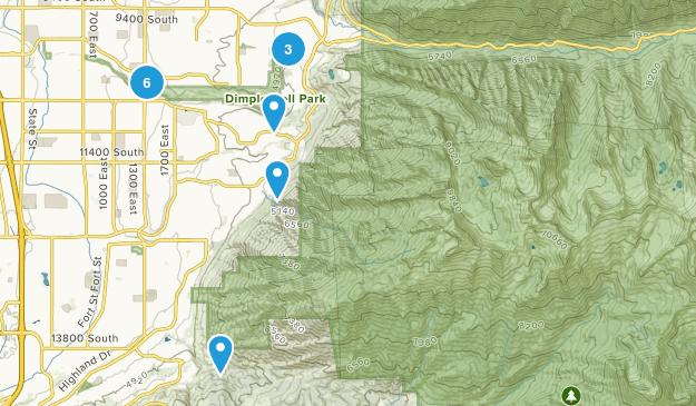 Sandy, Utah Dogs On Leash Map