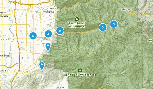 Sandy, Utah Mountain Biking Map