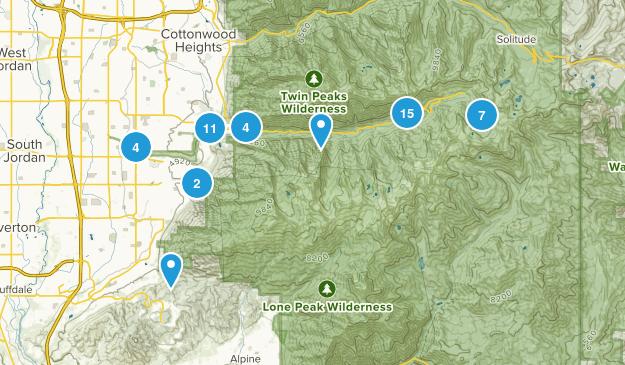 Sandy, Utah Nature Trips Map