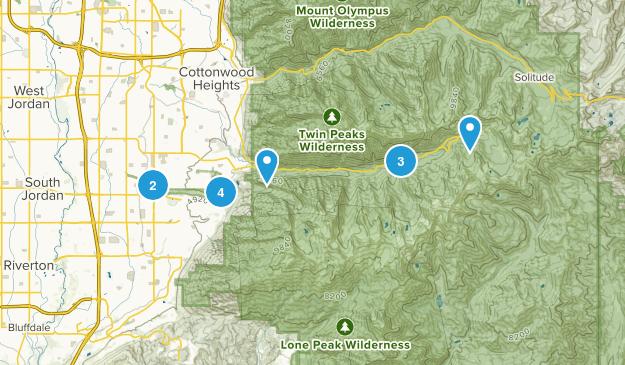 Sandy, Utah Snowshoeing Map