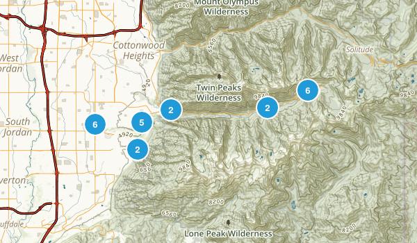 Sandy, Utah Trail Running Map