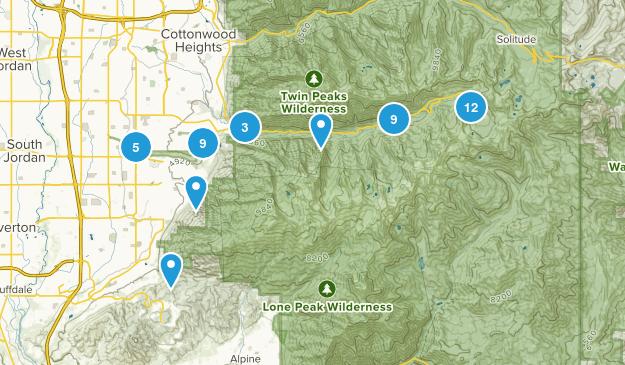 Sandy, Utah Wild Flowers Map