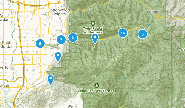 Sandy, Utah Wildlife Map