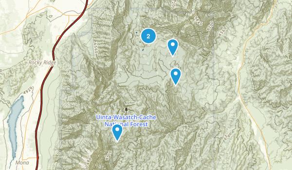 Santaquin, Utah Hiking Map